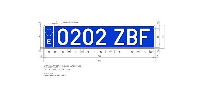 Renovar carné de  conducir: ¿Qué significan esas nuevas matrículas azules que no paramos de ver?
